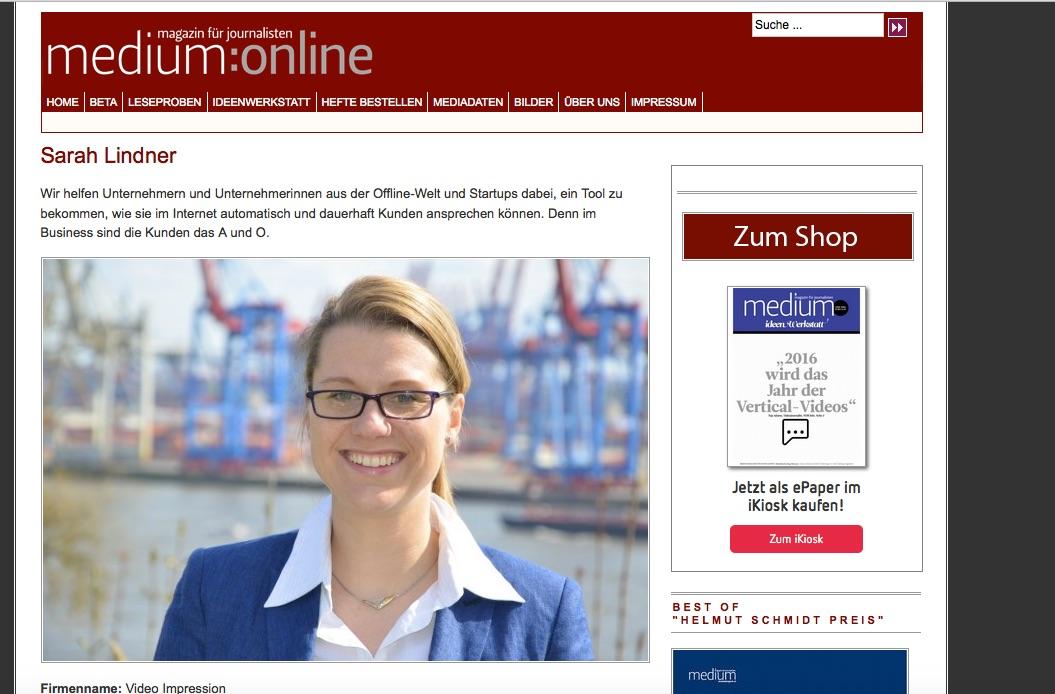 Sarah Lindner Medium Magazin
